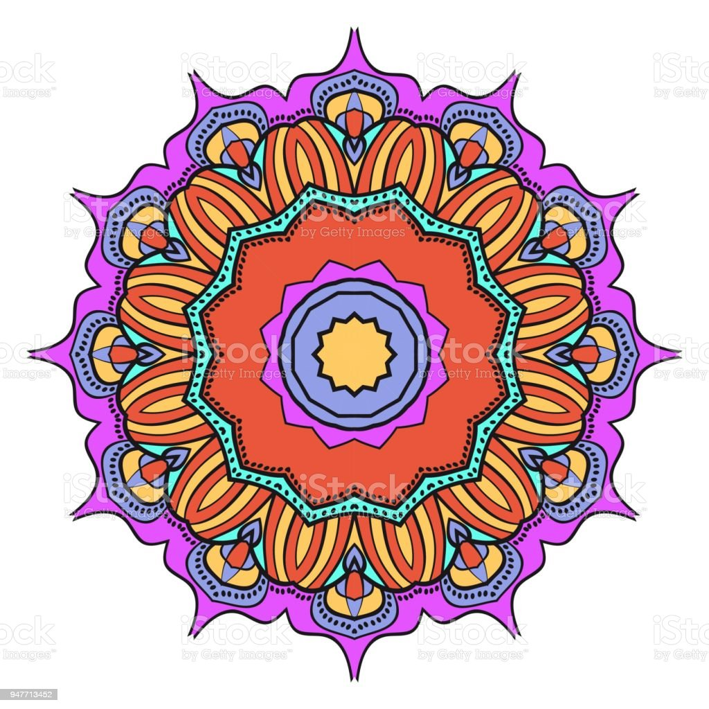 Flower Mandala Printable Package Decorative Elements Coloring Page ...