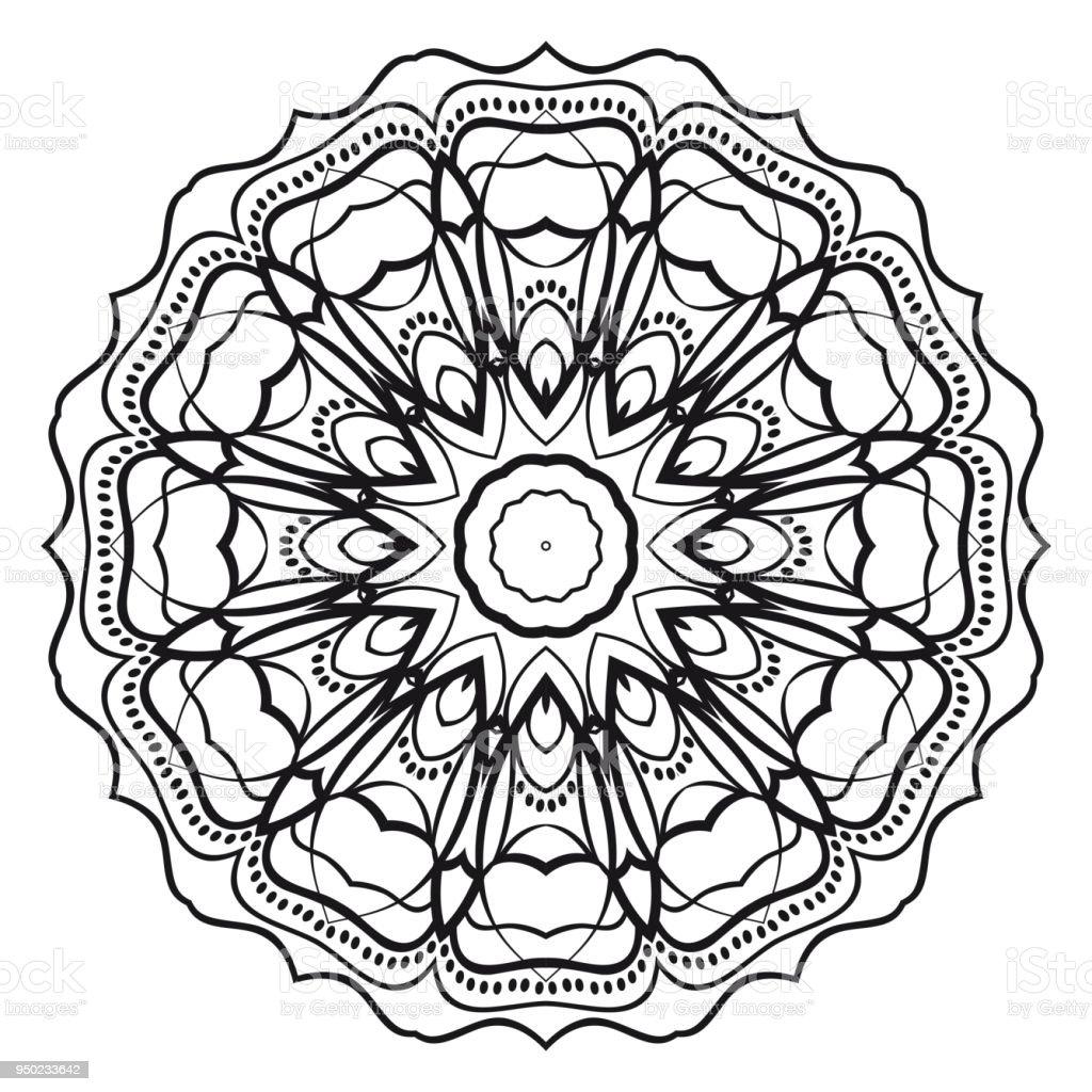 Cicek Mandala Yazdirilabilir Paket Dekoratif Ogeler Boyama Sayfasi