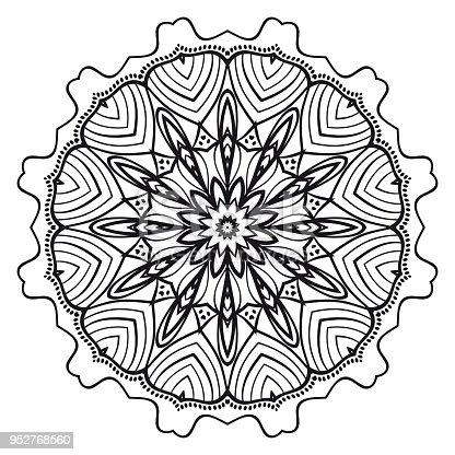 Ilustración de Mandala De La Flor Elementos Decorativos De Paquete ...