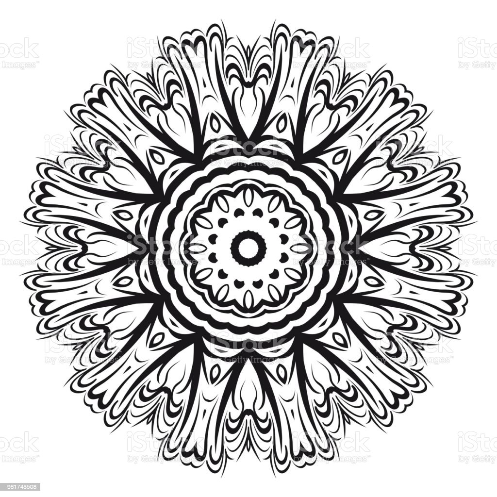 Flower Mandala Printable Package Decorative Elements Coloring Page Template It Is Fantastic Vector