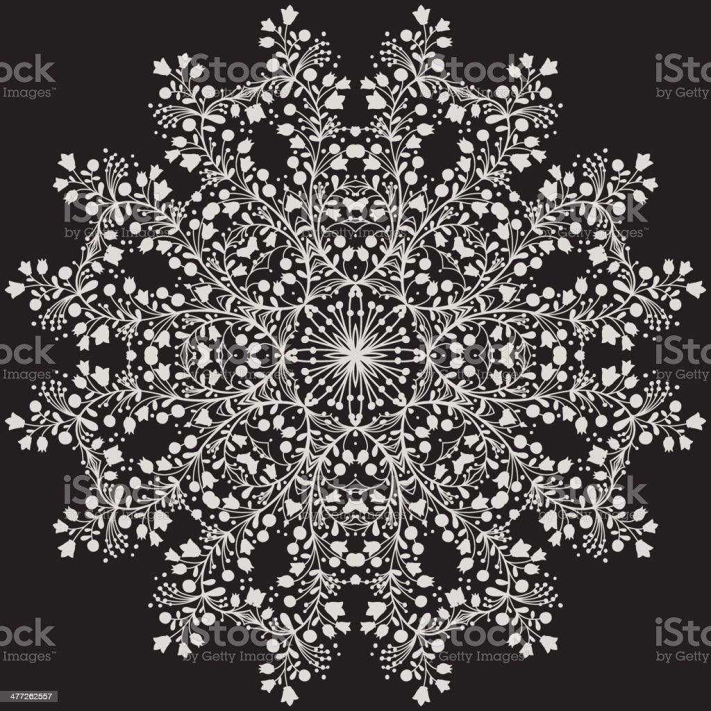 Flower Mandala royalty-free stock vector art