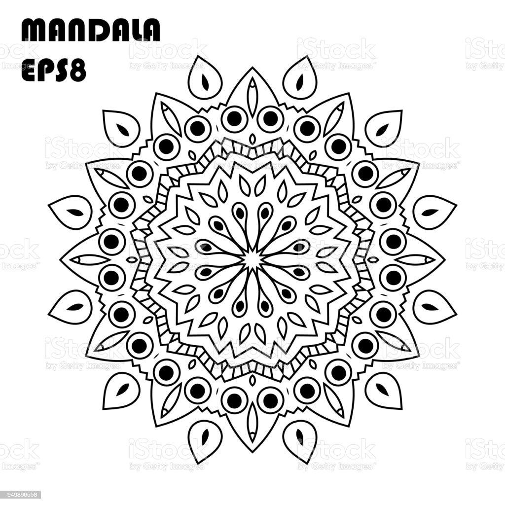 çiçek Mandala Vintage Dekoratif öğeler Oryantal Model Islam Arapça