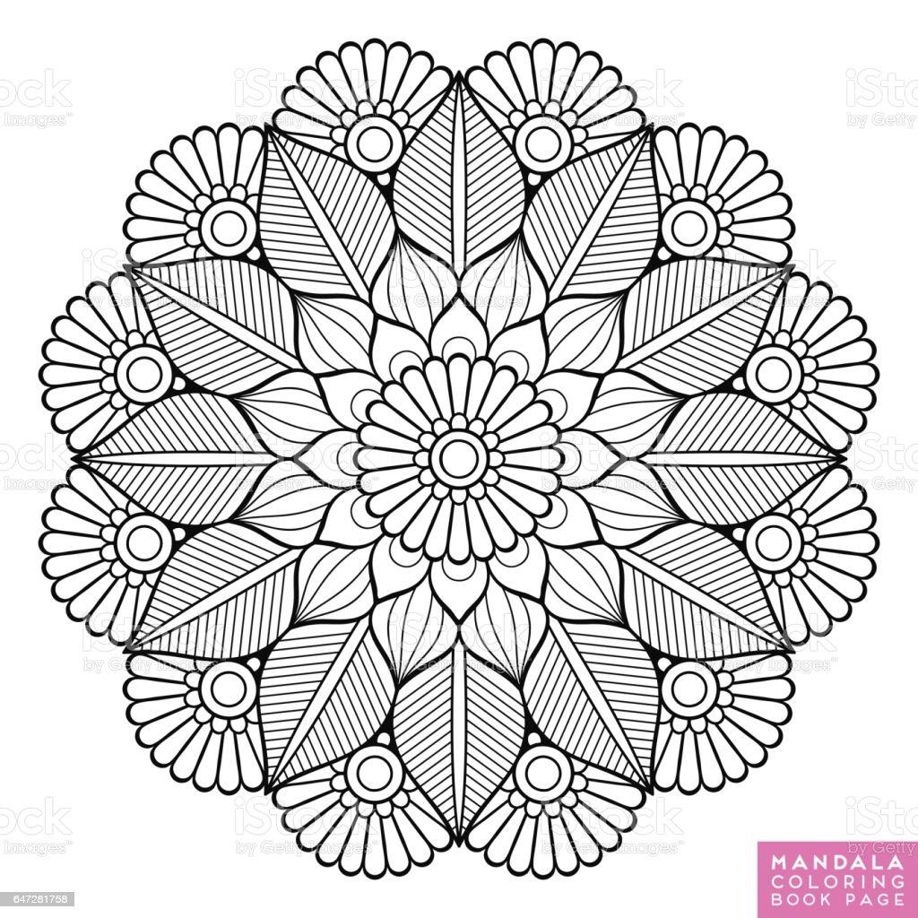 Flower Mandala Vintage Decorative Elements Oriental