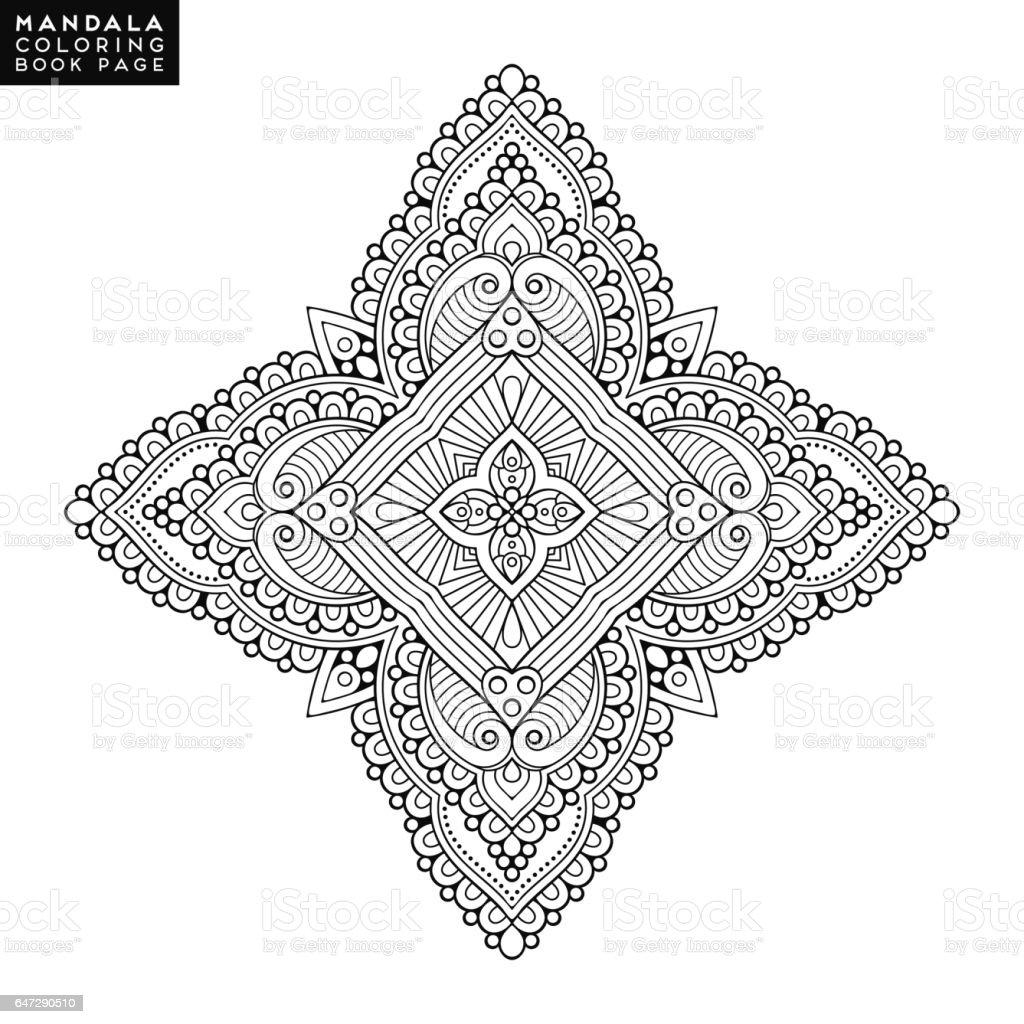 Ilustración de Mandala De La Flor Elementos Decorativos Vintage ...