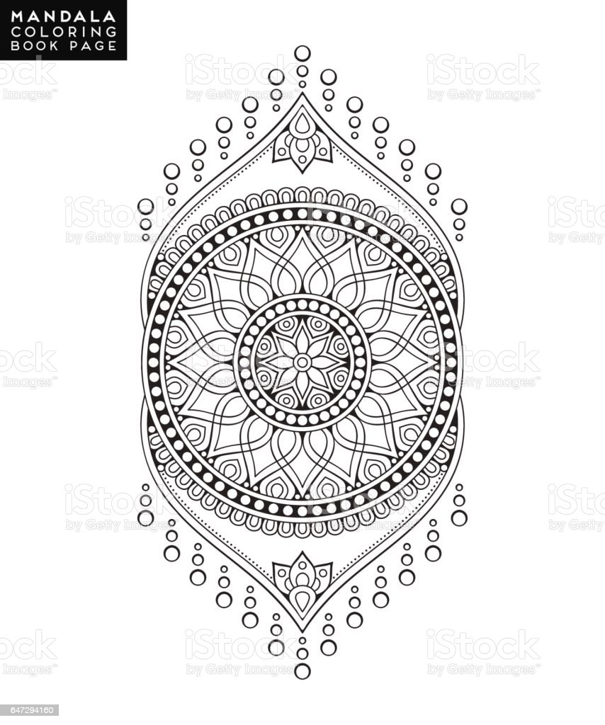 flower mandala vintage decorative elements oriental pattern vector vector id