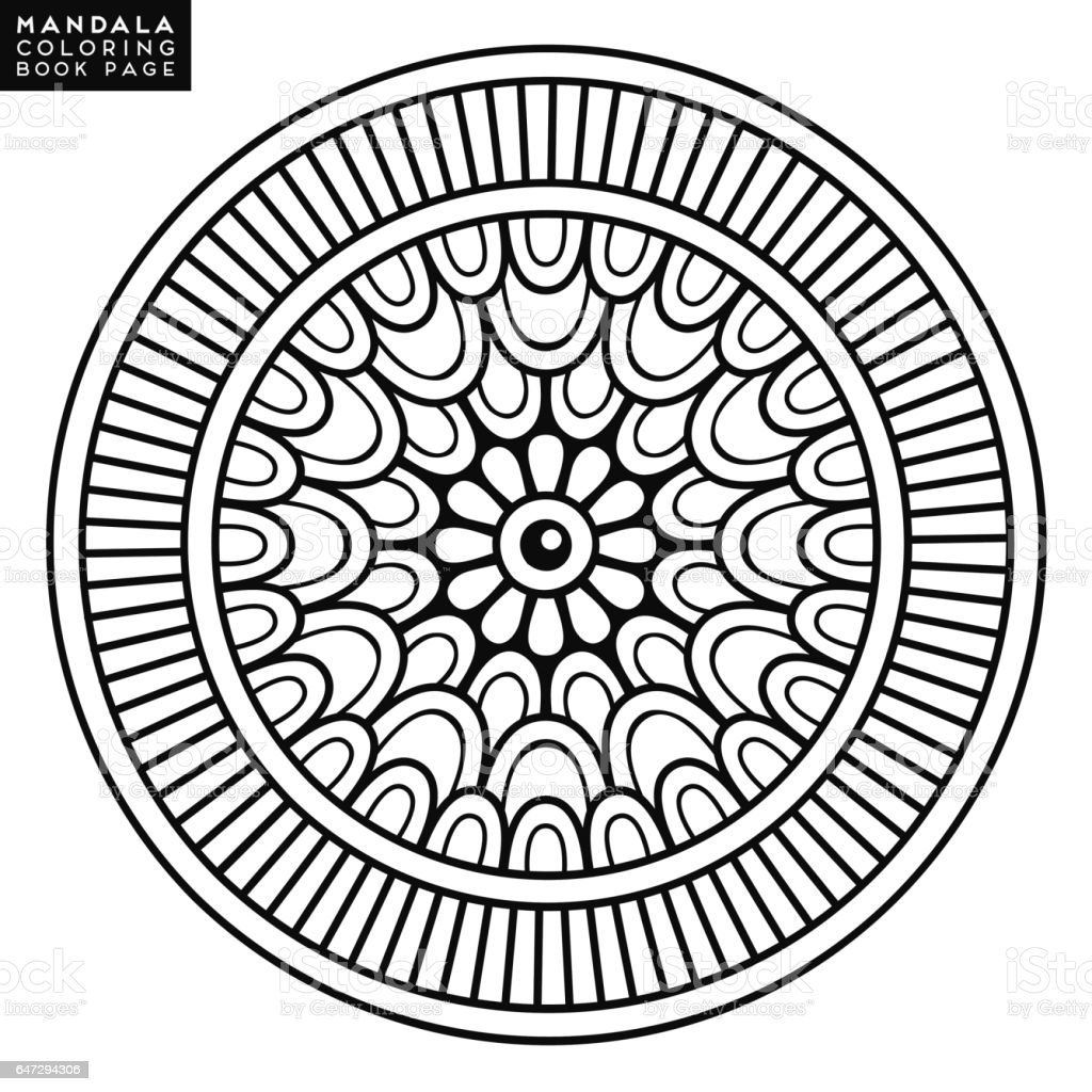 Mandala Bloem Vintage Decoratieve Elementen Oosterse Patroon