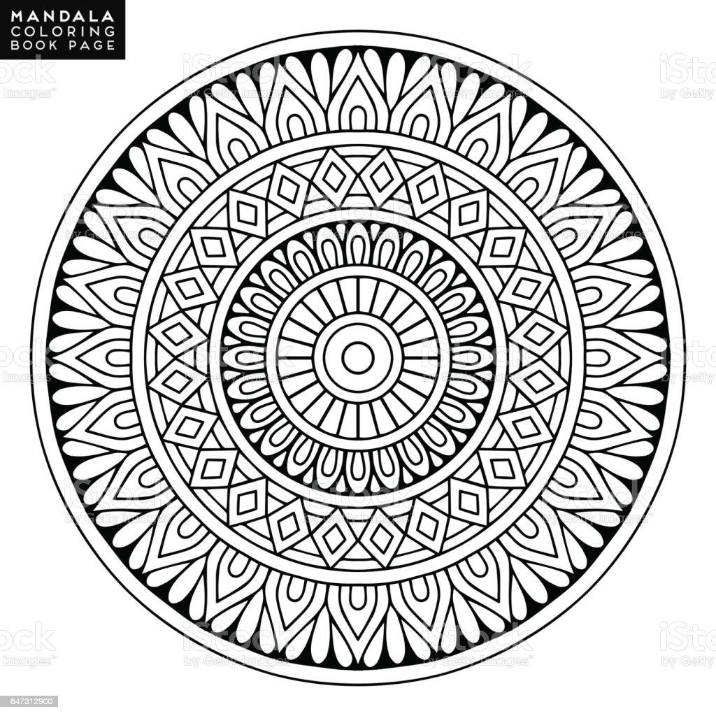 Cicek Mandala Vintage Dekoratif Ogeler Oryantal Desen Vektor Cizim