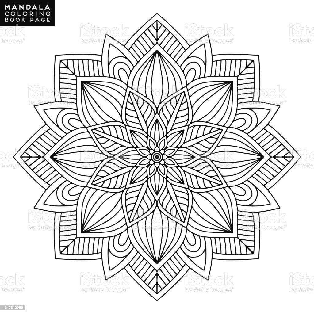 Islamitische Kleurplaten.Mandala Bloem Vintage Decoratieve Elementen Oosterse Patroon