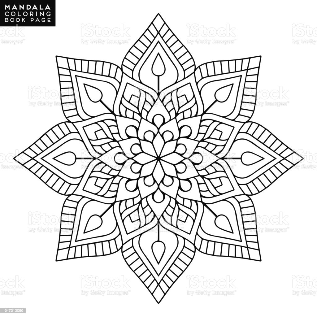 Cicek Mandala Vintage Dekoratif Unsurlar Oryantal Desen Vektor
