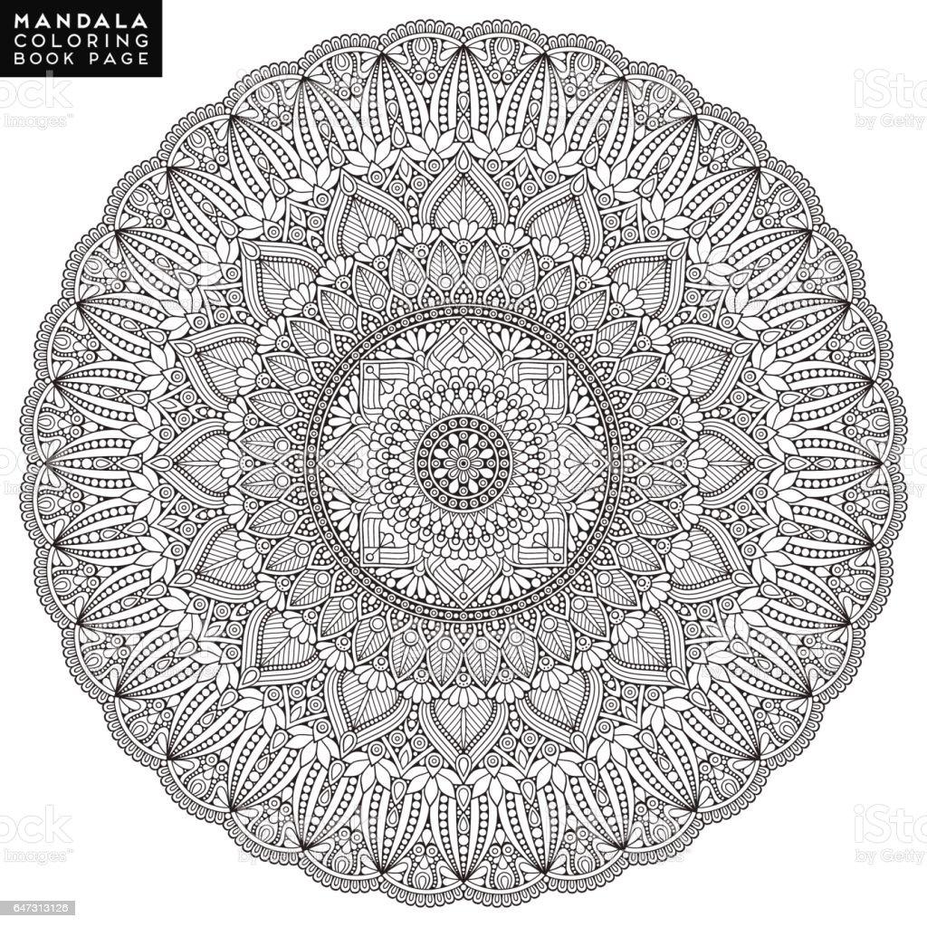 Flower Mandala Vintage Decorative Elements Oriental Pattern Vector