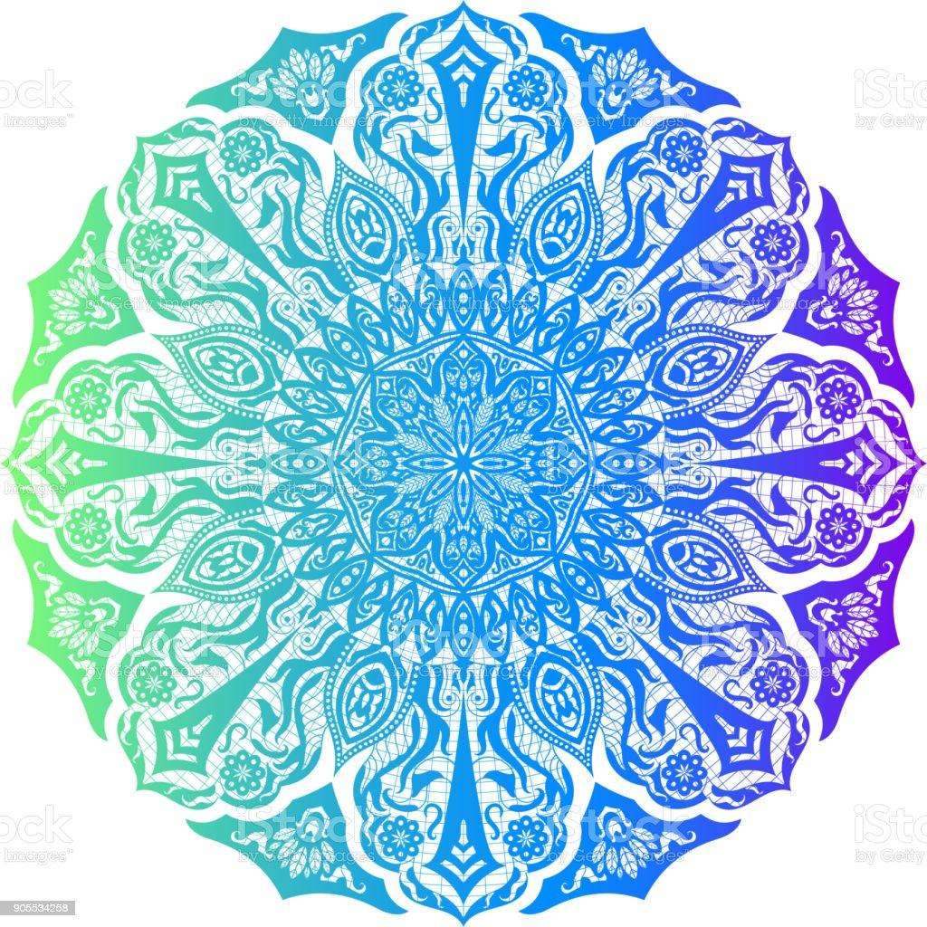 Blume Mandala Vintage Dekoelemente Stock Vektor Art und mehr Bilder ...
