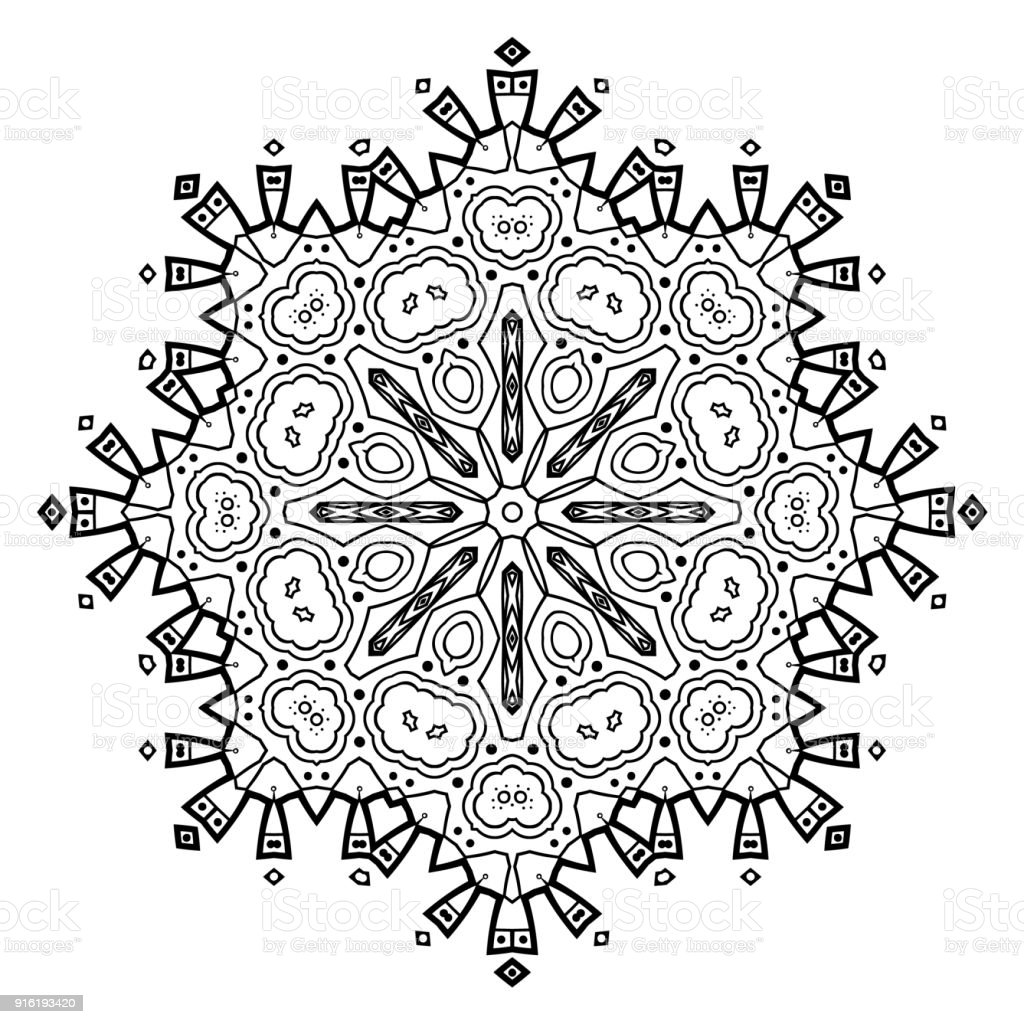 flower mandala vintage decorative elements vector id