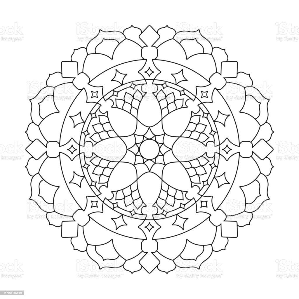 Cicek Mandalalar Geometrik Yuvarlak Hint Susleme Desen Oryantal