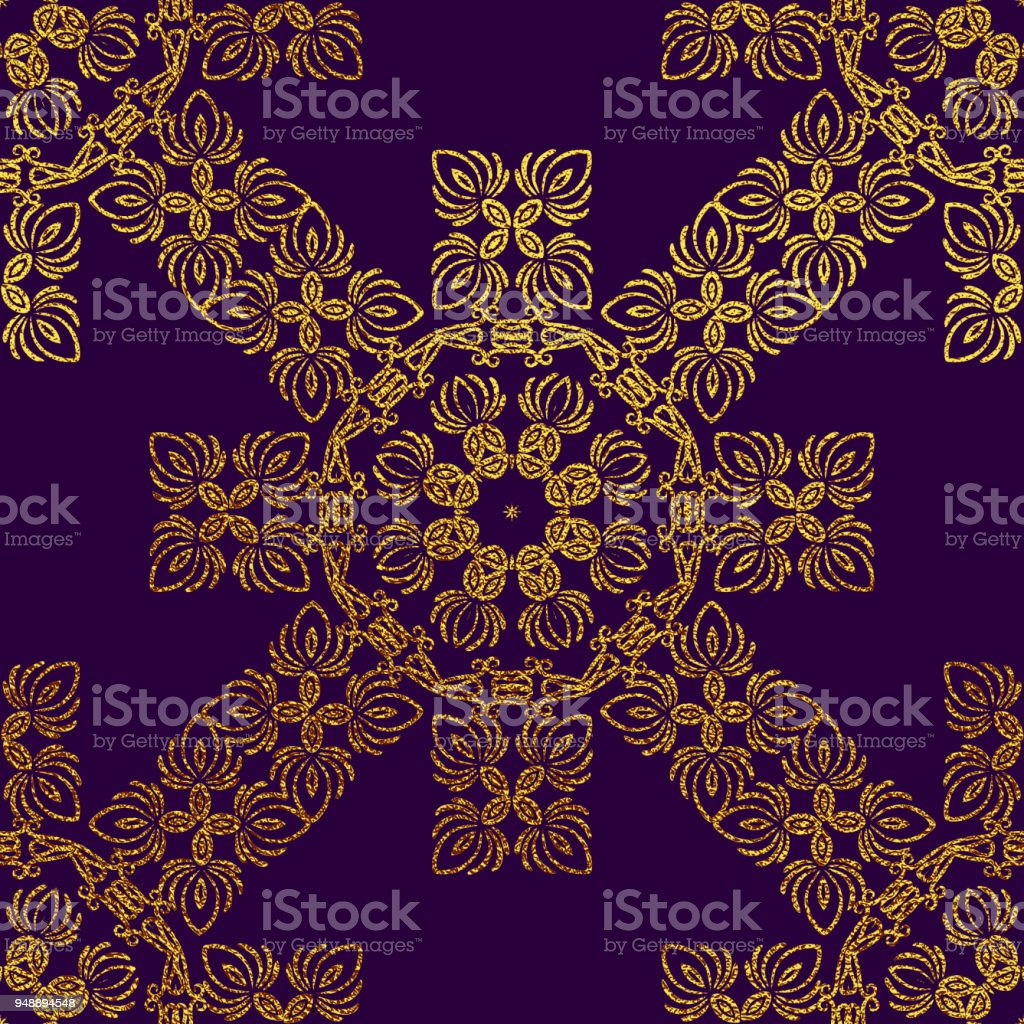 Flower Mandalas. Vintage decorative elements. vector art illustration
