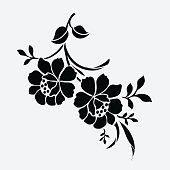 Flower motif for design.