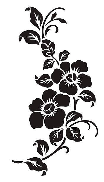 ilustrações, clipart, desenhos animados e ícones de motivo de flor - bordas florais