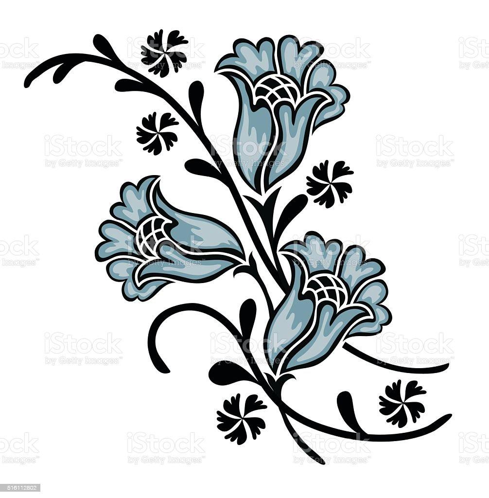 flower motif stock vector art 516112802 istock. Black Bedroom Furniture Sets. Home Design Ideas