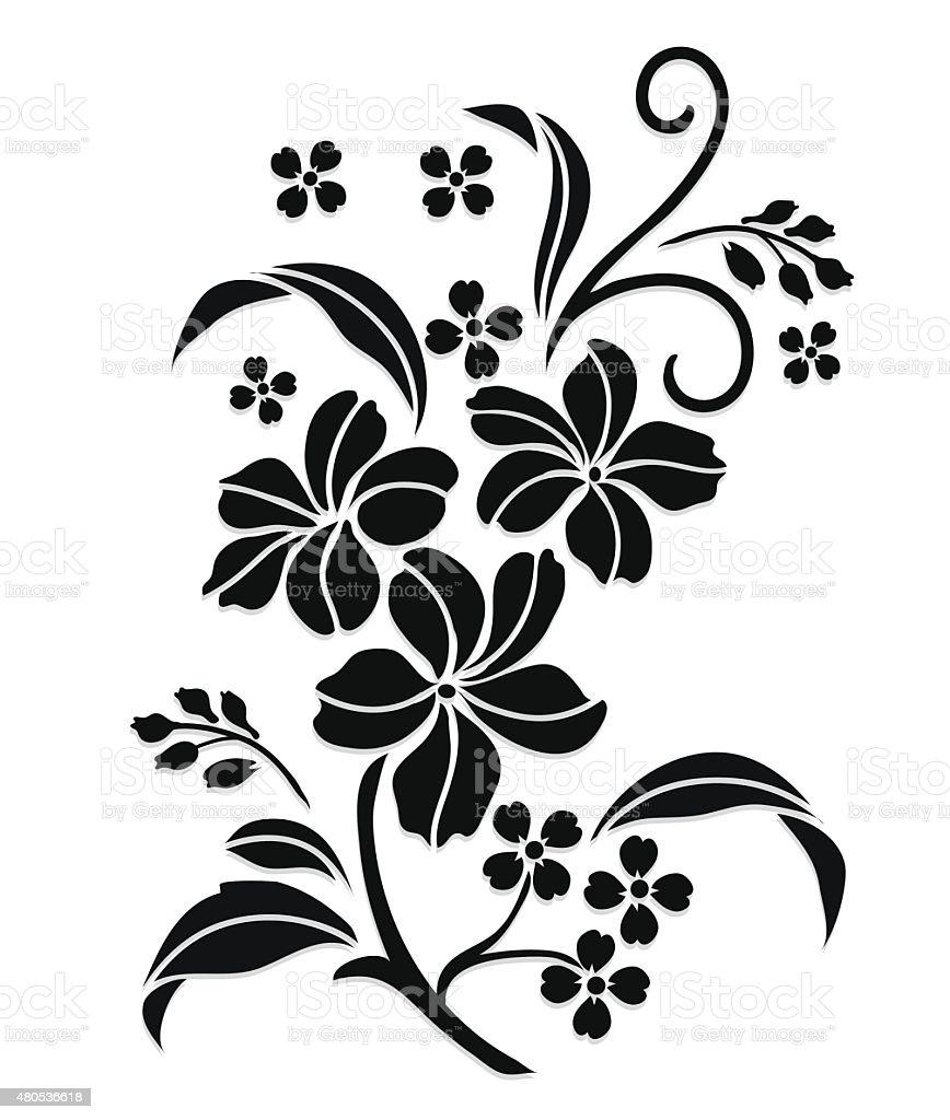 flower vector motif sketch pattern elements edge lace rose floral designs flowers stencil shutterstock vectors patterns illustration stem single clipart