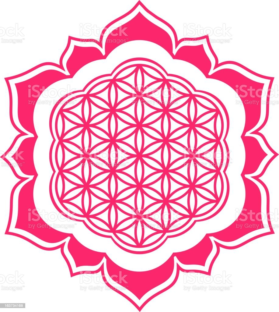 Flower Of Life Lotus Stock Vector Art More Images Of Balance