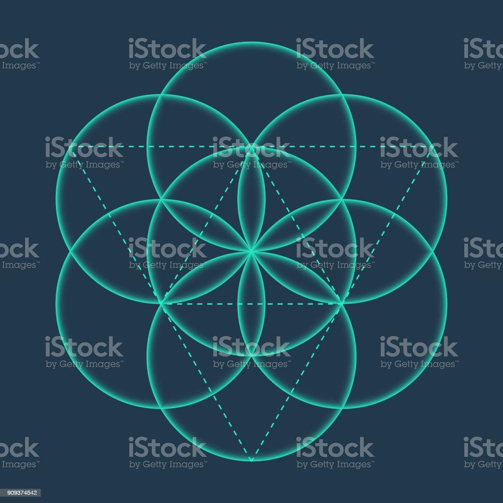 Flower of life metatrons cube sacred geometric stock vector art flower of life metatrons cube sacred geometric royalty free flower of life metatrons biocorpaavc