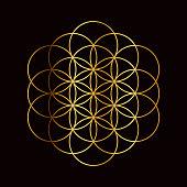 istock Flower of Life Sacred Geometry Symbol 1223265207