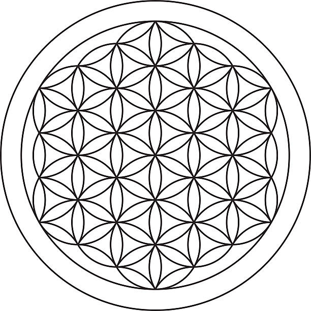 flower of life. sacred geometry. - lifestyle stock illustrations