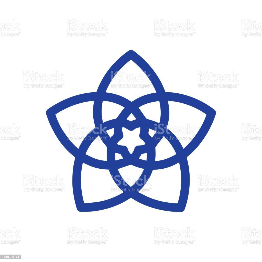 Blume Der Liebe Venus Symbolblume Vektor Genannt Eine Funfpetaled
