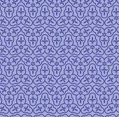 Vector Illustration Seamless Background with a triad composition with purple colour Flower of Lys.