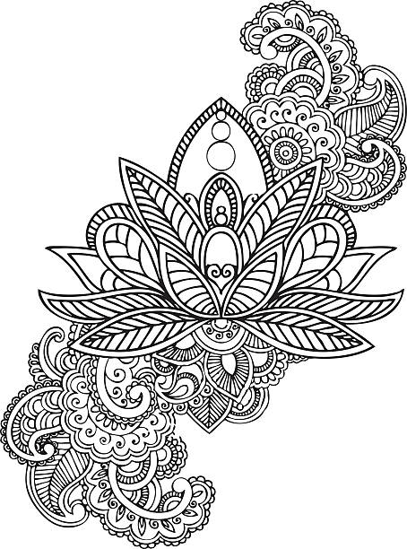 Royalty Free Henna Tree Clip Art Vector Images Illustrations Istock