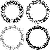 Flower ornamental rings