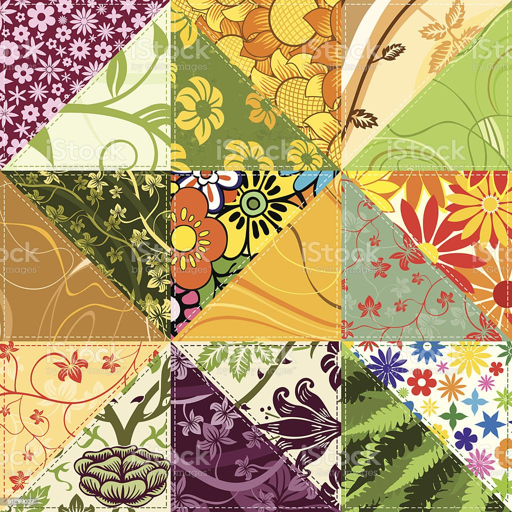 Flower Patchwork royalty-free flower patchwork stock vector art & more images of abstract