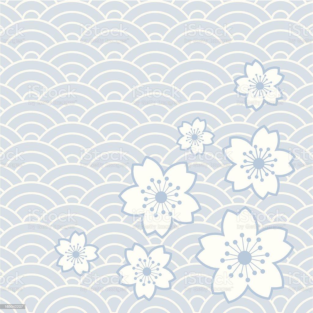 flower pattern 6 vector art illustration