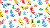 Flower Pattern abstract Background
