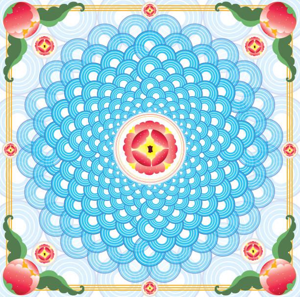 Flower pattern background Flower pattern background dazzled stock illustrations