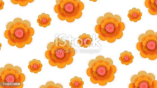 istock Flower Pattern Background 1146424908