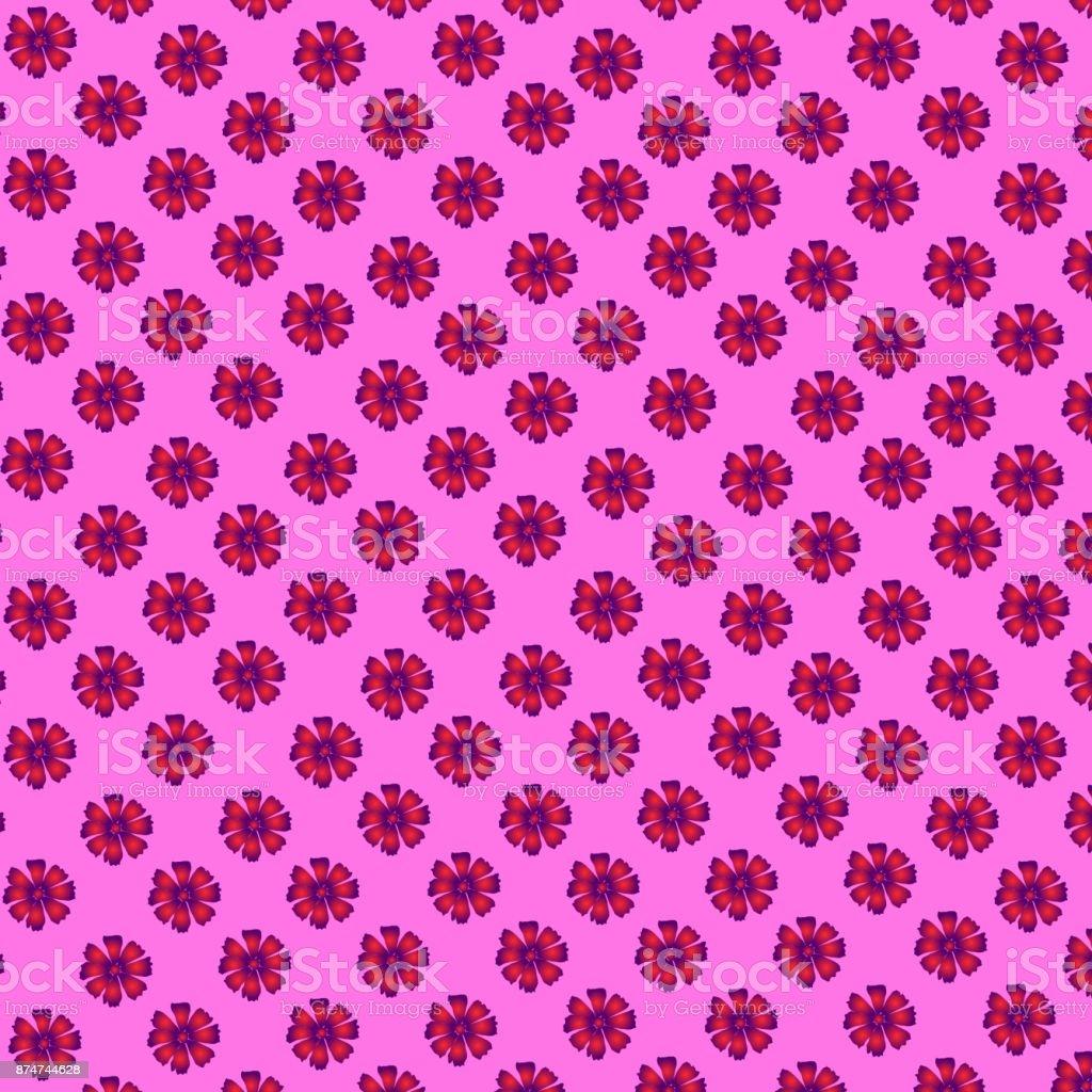 58efaa053320a Blumenmuster  Rosa und lila Blümchen von Cosmece auf einem rosa Hintergrund  - einen wunderschönen Sommer