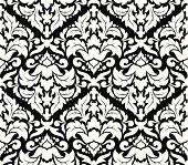 Abstract seamless flower pattern. There is two separate layers (black and white). Two high resolutions PNG files without black layer in two colours (white and black) is also added.