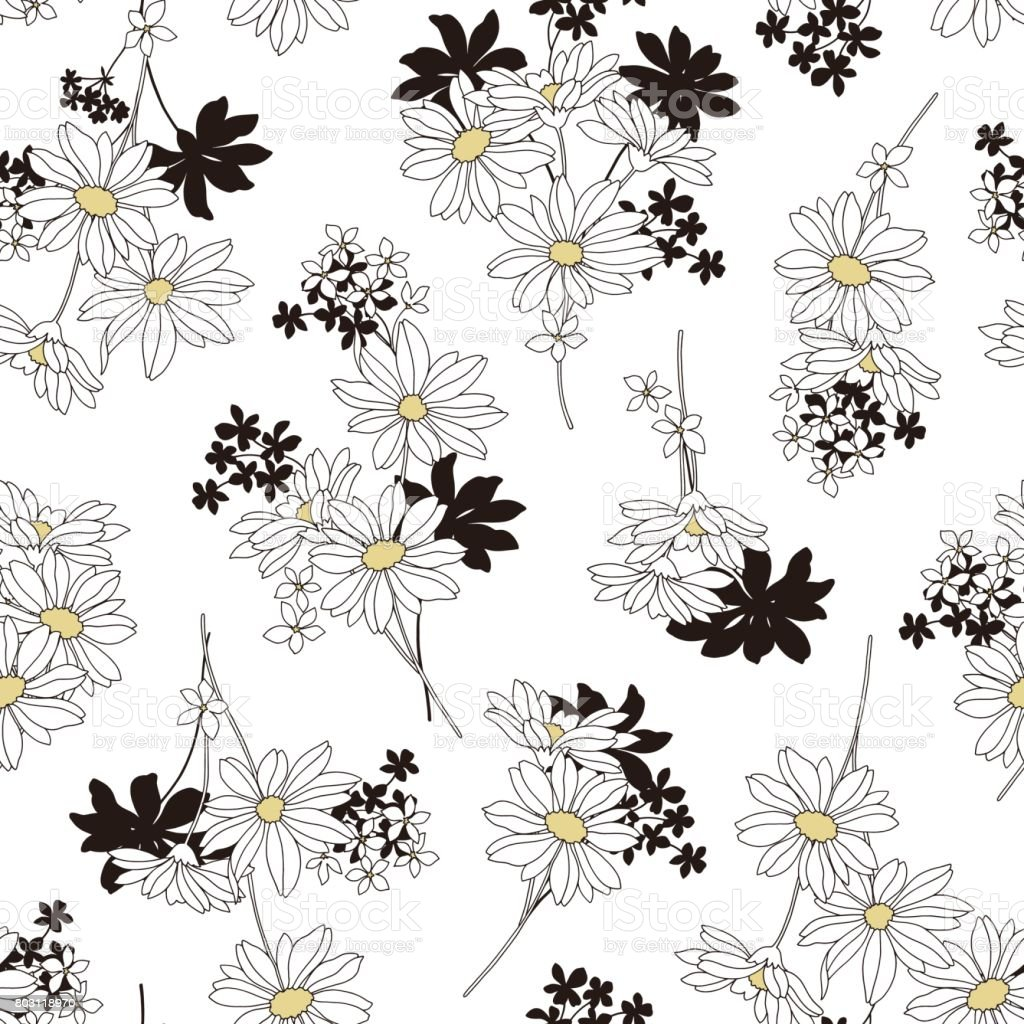 Flower pattern vector art illustration