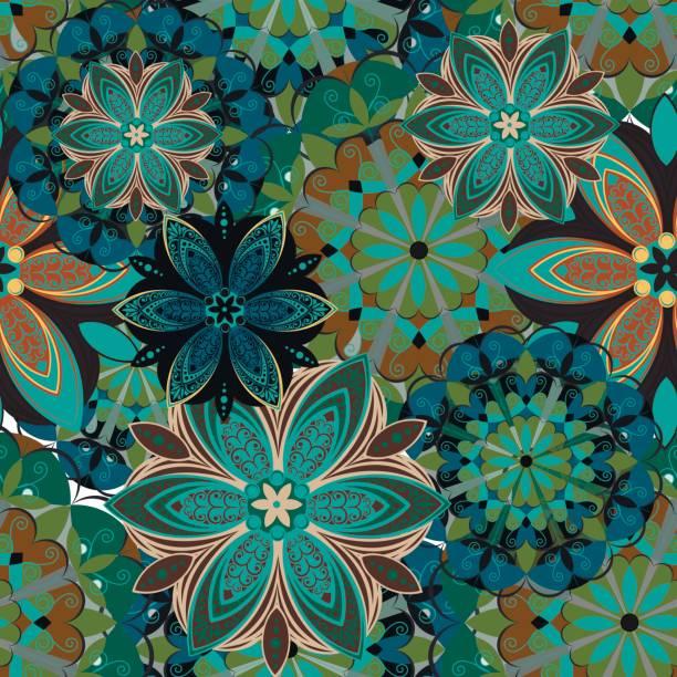 Blumenmuster. Vektor. – Vektorgrafik