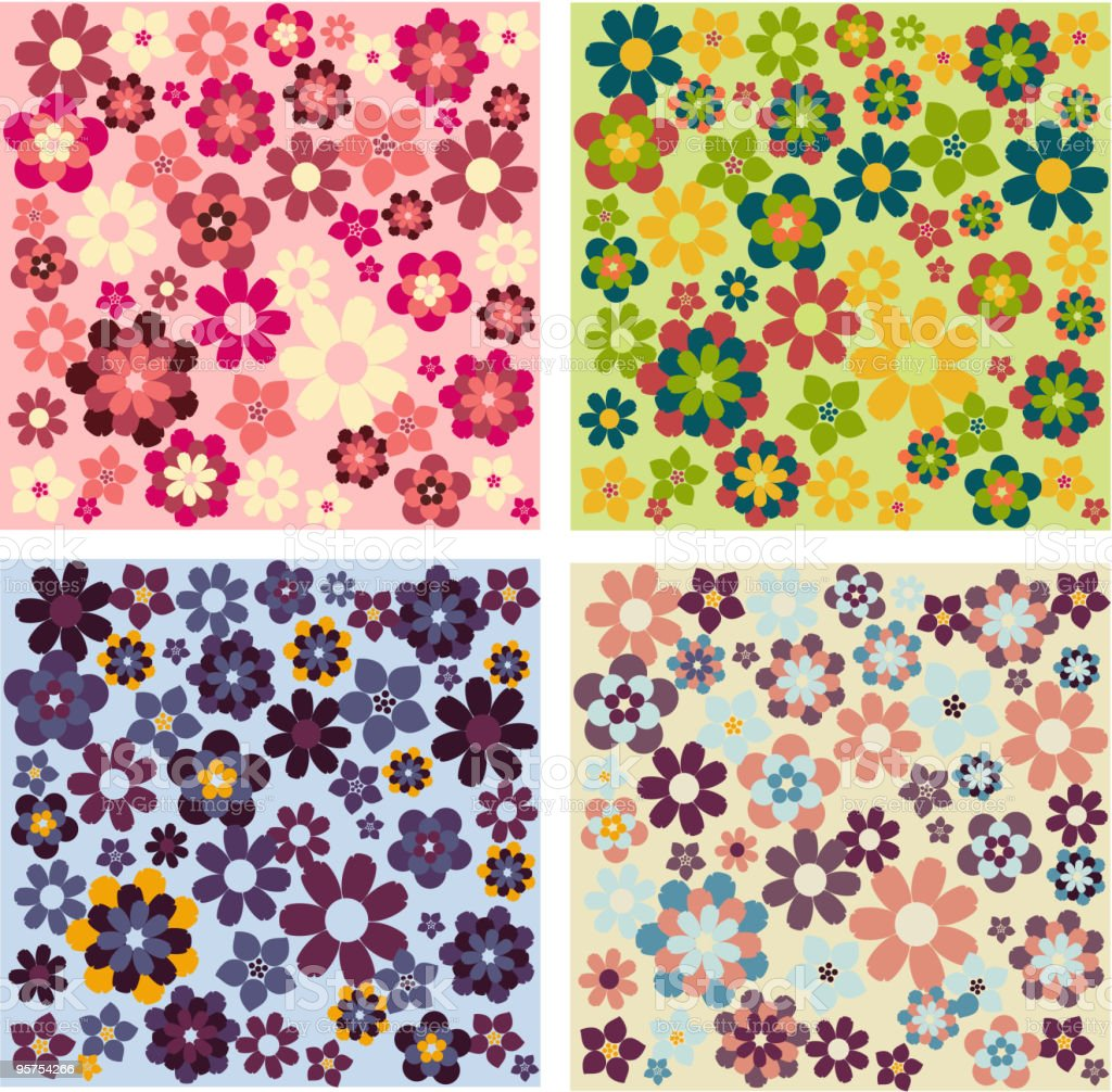 Flower patterns royalty-free flower patterns stock vector art & more images of art