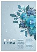 Flower poster for the festival.
