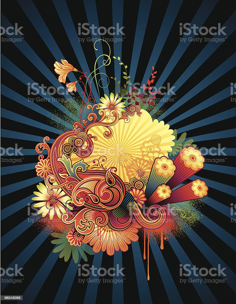 Flower Power royalty-free flower power stock vector art & more images of backgrounds