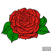 Flower. rose flower. manual drawing. Circuit. Plant. For your design.