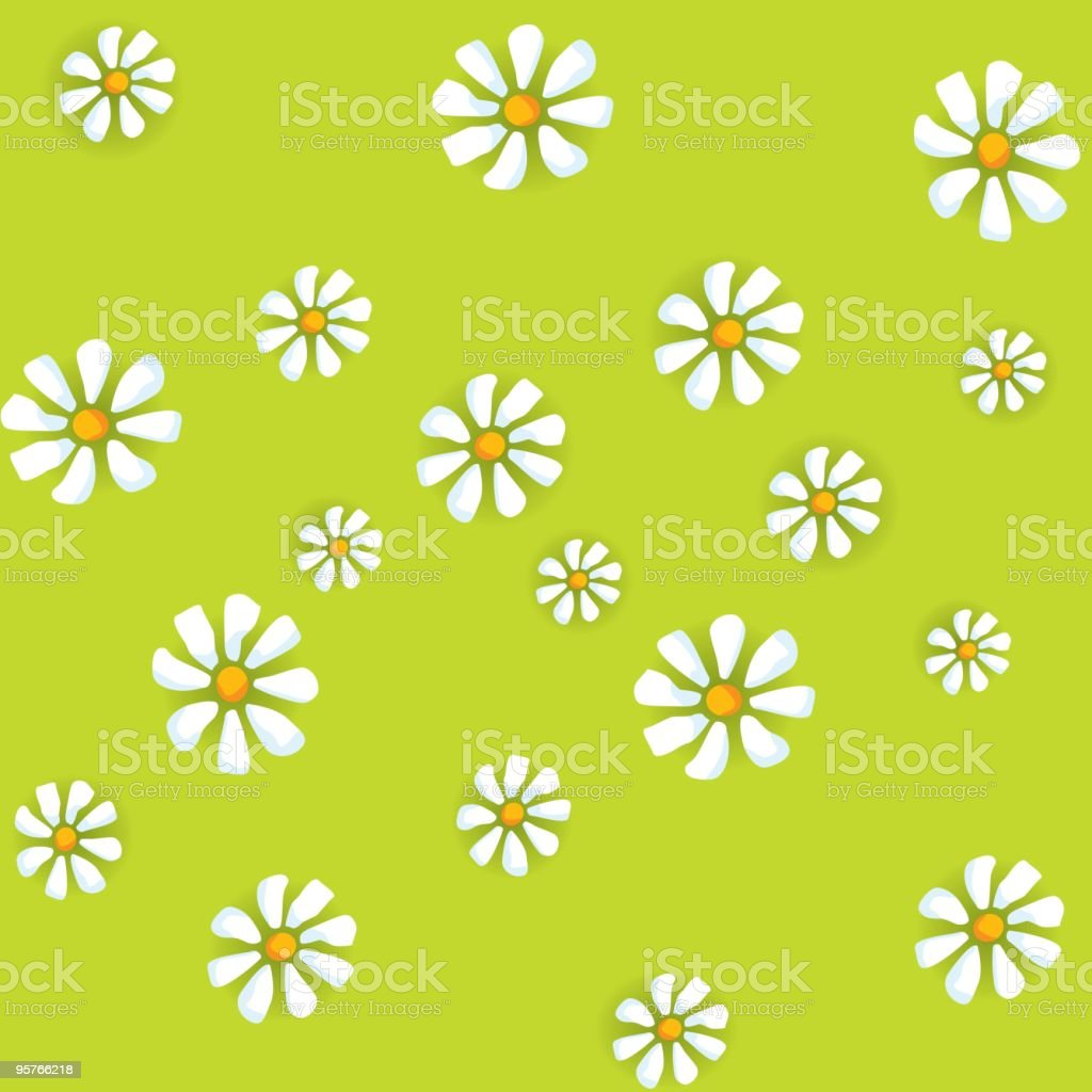 Flower seamless background vector art illustration