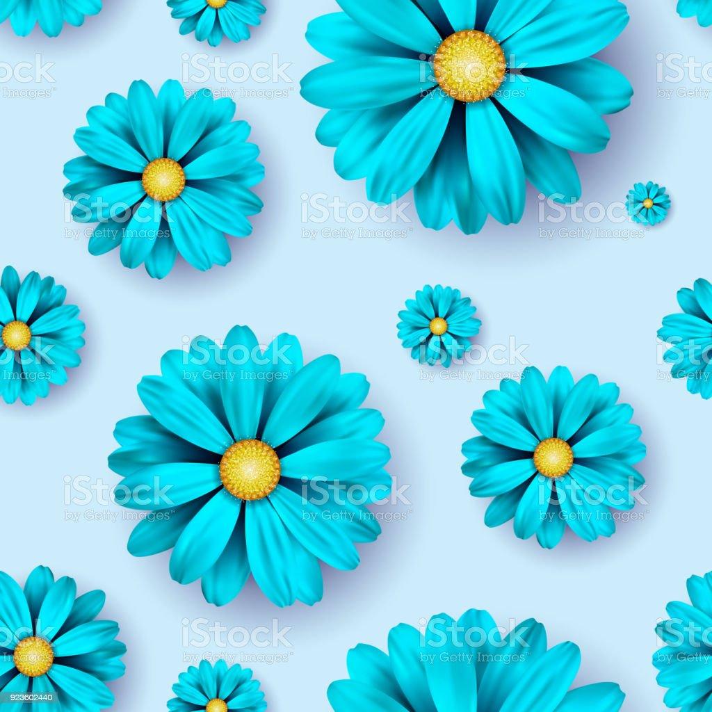Ilustracion De Flores Sin Fisuras De Fondo Con Elementos Florales