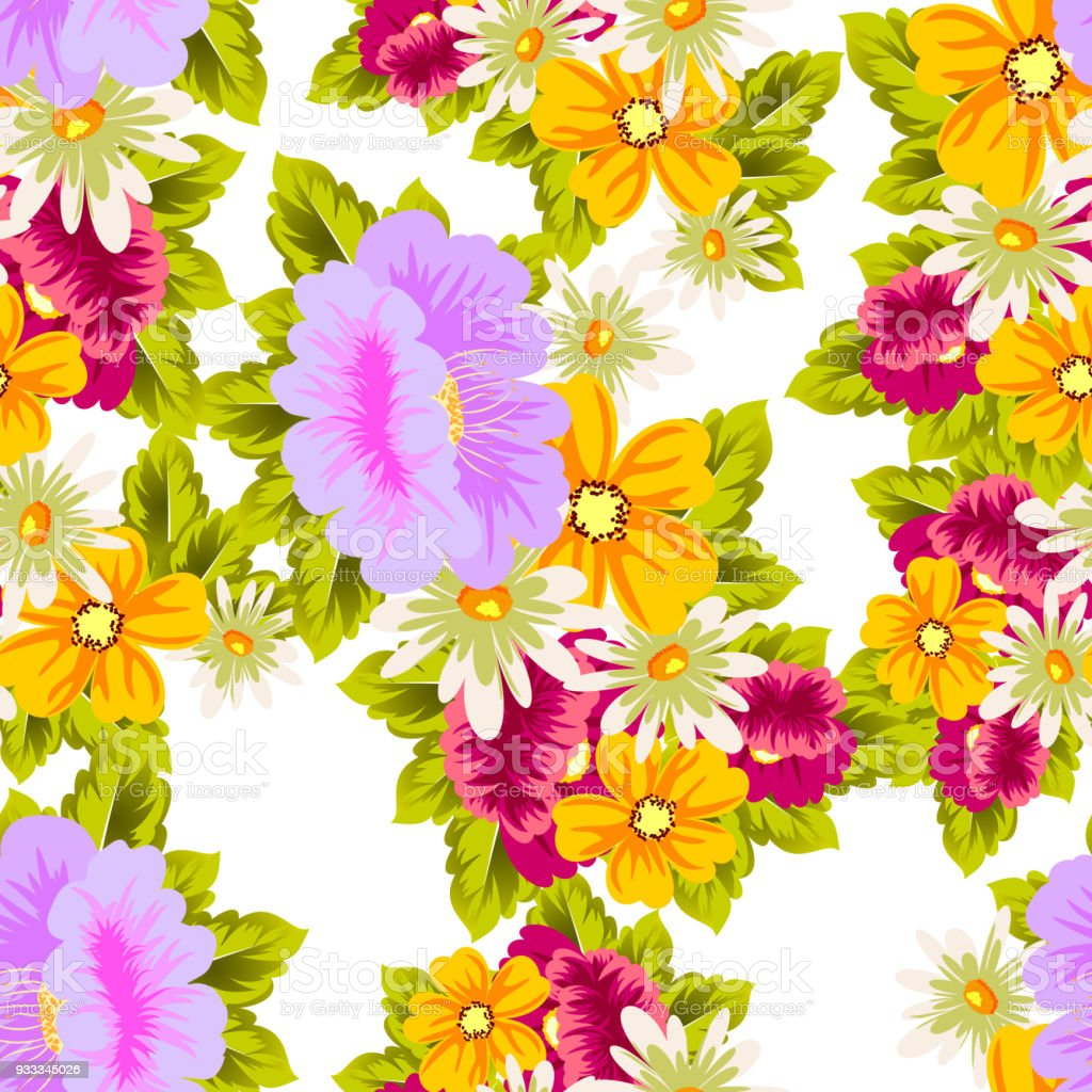 Flower seamless pattern for your designs greeting cards greeting bouquet daisy flower flowerbed summer izmirmasajfo