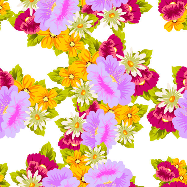 Flower Seamless Pattern For Your Designs Greeting Cards Invitations Wedding