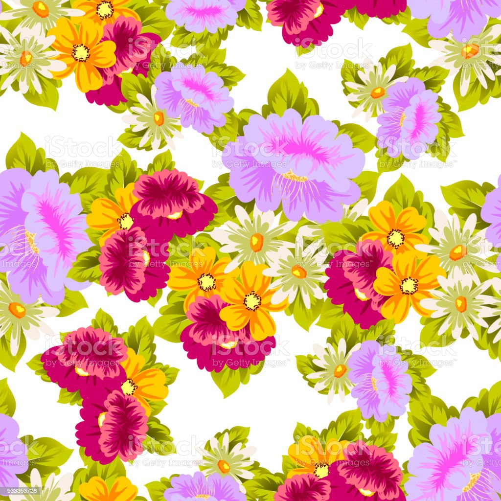 Flower seamless pattern for your designs greeting cards greeting bouquet daisy flower summer textile izmirmasajfo