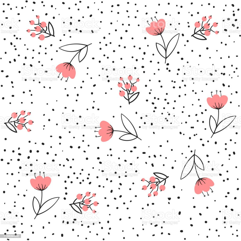 Flower seamless pattern vector. Simple floral print with small rose. Background vector illustration. Design. Flower seamless pattern vector. Simple floral print with small rose. Background vector illustration. Abstract stock vector