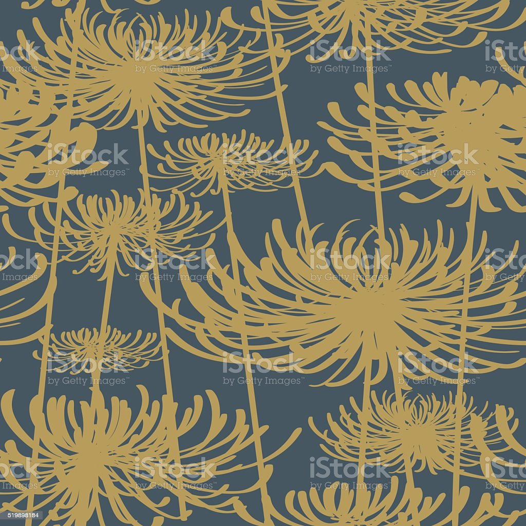 Flower seamless pattern vintage style vector art illustration